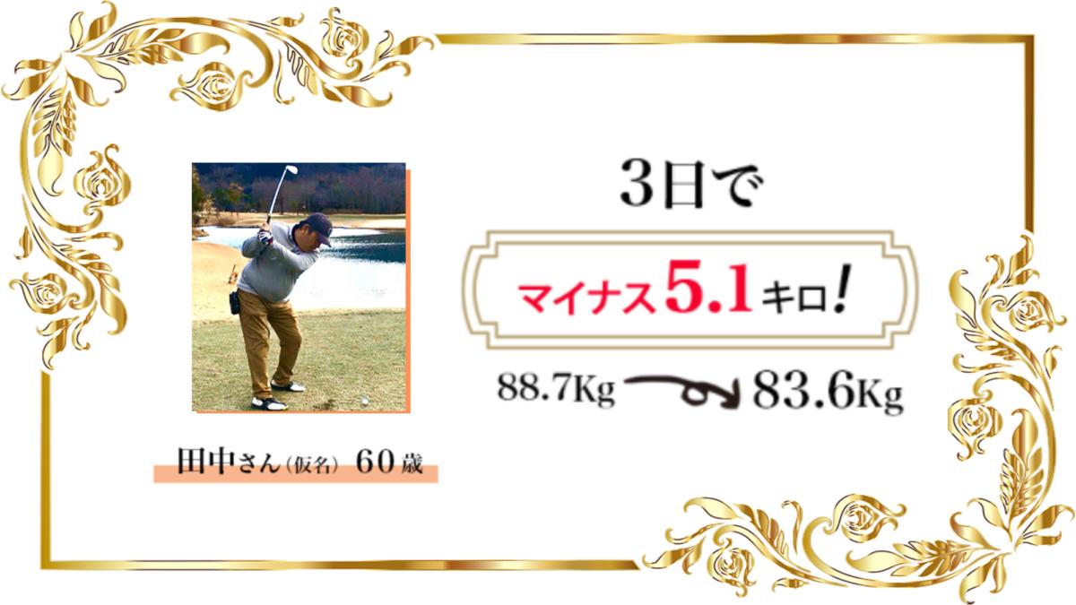 オイルファスティング3日実践者の声田中さん